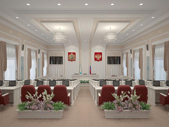 Зал Архангельского областного Собрания депутатов